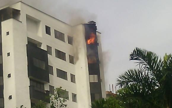Incendio en el poblado